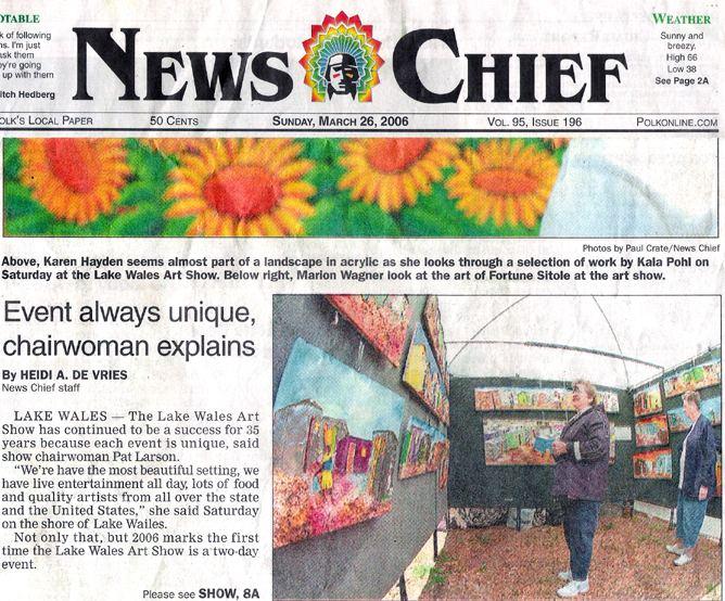 News Chief - Event always unique, chairwoman explains. - March 26, 2006