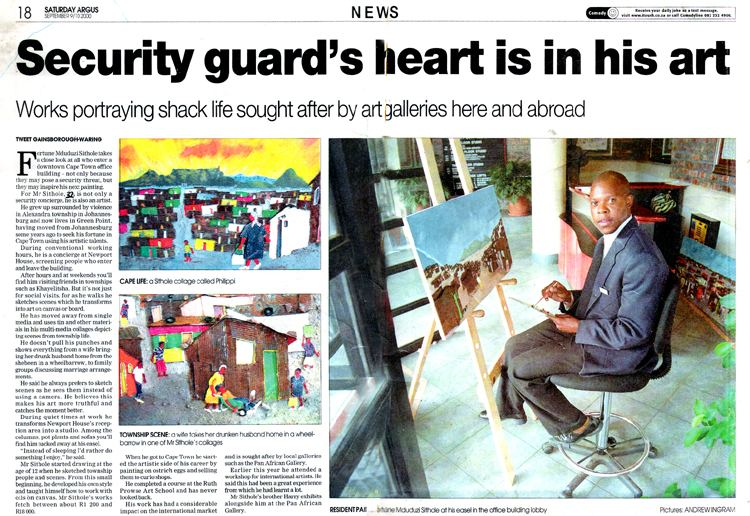 Cape Argus - Security guard's heart is in his art. - September 9, 2000